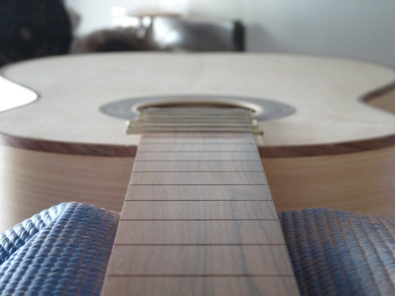 Fretboard attached